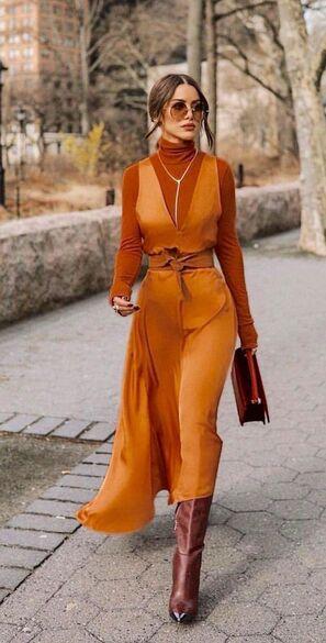 Abbinare i colori outfit marrone