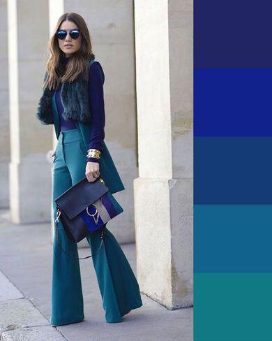 come abbinare i colori simili blu