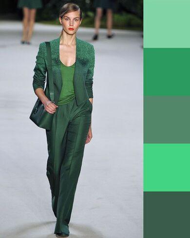 come abbinare i colori simili verde